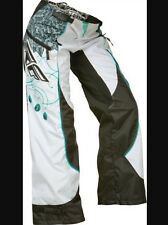 Fly Racing 368-63402 Kinetic Ladies Overboot Pants 24 Teal/White WS8
