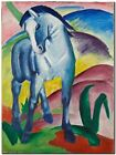 "Franz Marc Vintage Abstract Art CANVAS PRINT Blue Horse poster 24""X16"""
