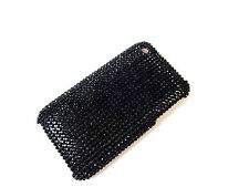 BLACK STUDDED GLOSSY IPHONE 3/GS CASE BRAND NEW UNIQUE COOL BOLD (B3)