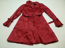 DKNY Womens Size PL Pink Thin Trench Jacket Great Condition