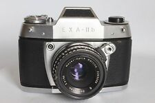 IHAGEE EXA IIB 35 MM FILM SLR CAMERA + 50 MM 1:2.8 MEYER DOMIPLAN LENS (USED)