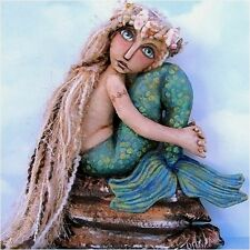 "*NEW* CLOTH FOLK ART DOLL (E-PATTERN) ""MERMAID ON A ROCK"""