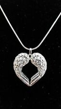 NEW! 925 Sterling Silver Fashion Jewelry Angel Wings Pendant &Chain 18,20,22 in.