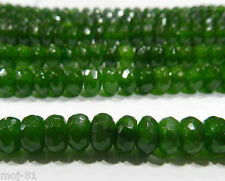 Genuine 5x8mm Faceted Emerald Abacus Loose Beads Gemstone 15""