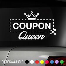 Coupon Queen Vinyl Decal sticker