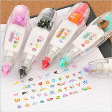 5x Creative Stationery #L Push Correction Tape Lace Key Tag Sign School Supplies