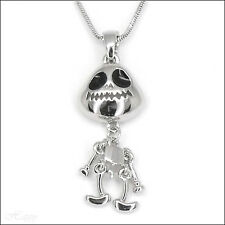 Beanie Baby Spooky Ghost Necklace Pendant Jewelry Charm Chain Black Halloween