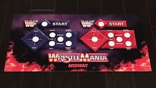 WWF Wrestlemania Arcade Control Panel Overlay CPO Midway