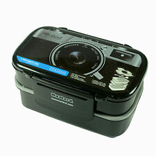 Novelty Camera Pattern Japanese Bento Lunch Box Food Container Plastic BPA Free