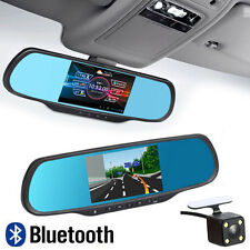 Bluetooth 1080P Android WIFI Rear View Mirror GPS Camera CAR DVR Dual Lens H700
