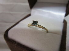 BEAUTIFUL ESTATE 14 KT GOLD .40 CT. FANCY GREEN DIAMOND RING  !!!!!!!