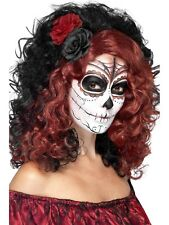 Day Of The Dead Rose Wig Halloween Horror Fancy Dress Wig Accessory P9632