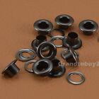 Gunmetal Black Size 4/5/6/8/10/12/14/17mm Solid Brass Eyelets w/Washer Grommets