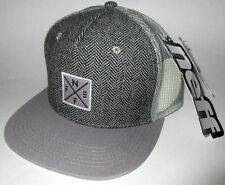 MENS NEFF GRAY HAT SNAPBACK ADJUSTABLE CAP ONE SIZE
