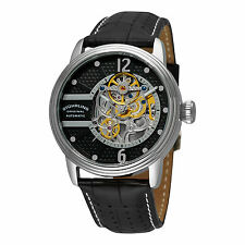 Stuhrling 308A 33151 Men's Prospero Classic Automatic Skeleton Black Watch