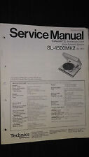 Technics sl-1500mk2 II service manual original repair turntable Panasonic