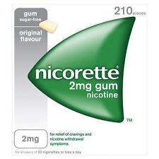 3 Packs of Nicorette Original 2Mg Gum 210's