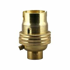 NEW BRASS BC LAMP HOLDER BAYONET CAP 13MM BASE