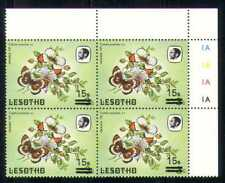Lesotho 1986 Butterflies/Insects 15s on 3s sur c/b  a65