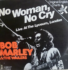 "7"" 70s REGGAE RARE IN MINT- ! BOB MARLEY & WAILERS : No Woman No Cry /LIVE"