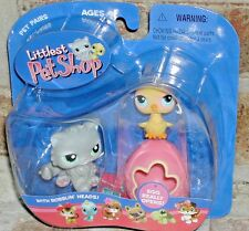 Littlest Pet Shop HTF 2005 Gray PERSIAN CAT w Chick and EGG 81 82 EASTER