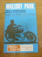 19/06/1966 Motor Cycle Programme: Pre TT International Motor Cycle Races [At Mal