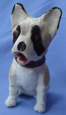 """ANTIQUE FRENCH BULLDOG SQUEAKER TOY FRENCH FASHION DOLL GERMANY 7"""""""
