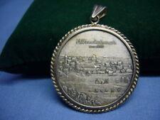 alte Medaille Anhänger 700 Jahre Stadt Windsbach Silber Ansbach   (5)