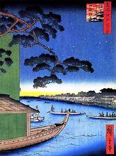 PAINTING JAPANESE WOODBLOCK HOUSE BOAT ART POSTER PRINT LV2628