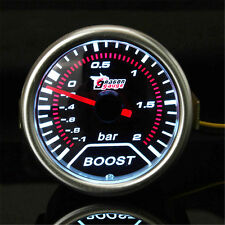 "2"" 52mm Turbo Boost Vacuum Pressure Bar Gauge Meter Pointer Smoke Len LED Dial"