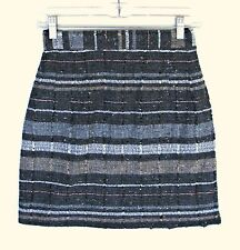 French Wool Blend Boucle Woven Tweed Slim Fit Mini Skirt S 4 6 8 Short France
