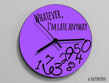 Whatever I'm Late Anyway / Round Purple- Wall Clock