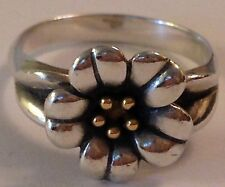 ❤️RETIRED JAMES AVERY APRIL FLOWER RING �� 18k GOLD Silver Sz 7 EUC w/ JA BoX❤️