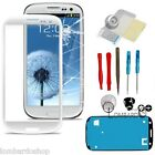 VETRO PER SAMSUNG GALAXY SIII S3 TOUCH SCREEN i9300 BIANCO BIADESIVO DISPLAY NEW