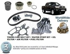 HILUX  D4D PICKUP 2006  TIMING CAM BELT KIT + WATER PUMP OIL AIR FUEL FILTER SET