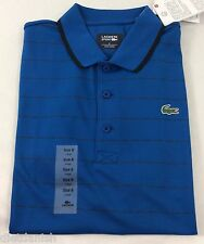 Lacoste SPORT Men's Polo Shirt Laser Blue Black White Size EU 3 US XS