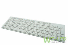 New White Universal Wireless Keyboard For iPad 1 2 3 4 Mac Computer PC Macbook