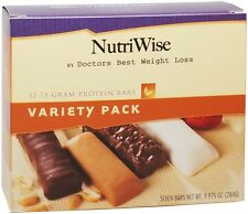 NutriWise - Variety Pack Diet Protein Bars (7 bars) Ideal Weight Loss