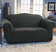 JERSEY STRETCH FIT 2 Pc Furniture Slipcover Set, Sofa/Couch+Loveseat Covers GRAY