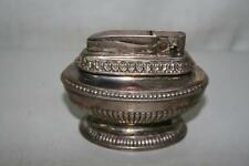 Vintage Ronson Queen Anne Silver Plated Table Cigarette Lighter Untested