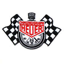 Tag Heuer Chronograph Flags Racing Vintage Motocycle Formula 1 Car Iron on Patch