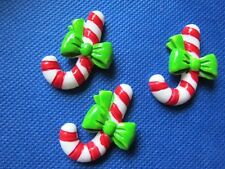 20 Cute Resin Christmas Candy Cane 28*36mm Flatback B215