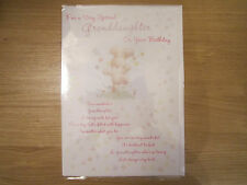 Sealed Happy Birthday Special Granddaughter Greeting Card Cute Bunny (904)