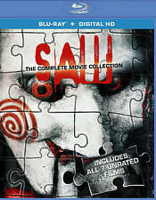 Saw: The Complete Movie Collection Blu-ray - 1,2,3,4,5,6,7 - all 7 films/3 discs