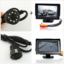 "Car Rearview Backup Reverse 8LED Night Vision Camera+4.3""LCD TFT Display Monitor"