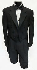 40S Mens Black 100% Wool Chaps 6 Button Notch Tuxedo Tailcoat Fulldress Tails