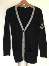 Vince Cashmere Blend Sweater Jumper Cardigan Navy Grey S Small