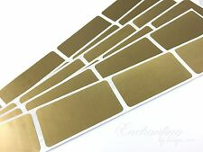 """50 - Scratch Off Labels 1"""" x 2"""" Gold Rectangle Stickers"""