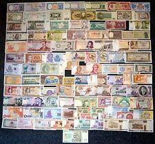 100 verschiedene BANKNOTEN ALLE WELT, SAMMLUNG, MIT BESSEREN wie ZIMBABWE etc.