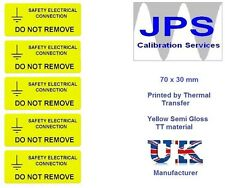 Electrical Labels - 10 Safety Electrical Connection  70 x 30mm JPSLABEL13a